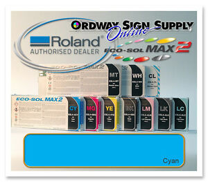 New Cyan Original Oem Roland Eco sol Max2 Ink 440ml Cartridge
