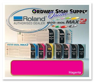New Magenta Original Oem Roland Eco sol Max2 Ink 440ml Cartridge