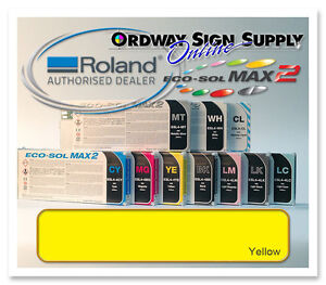 New Yellow Original Oem Roland Eco sol Max2 Ink 440ml Cartridge