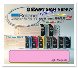 New Light Magenta Original Oem Roland Eco sol Max2 Ink 440ml Cartridge