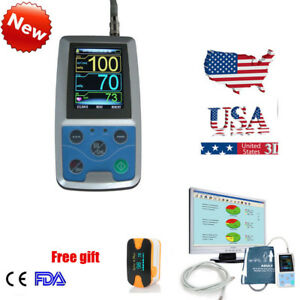 Fda Ambulatory Blood Pressure Holter 24h Pr Monitoring Oximeter Contec 3cuffs