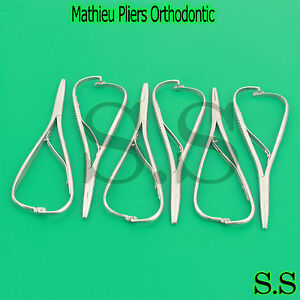 6 Mathieu Pliers 5 5 Orthodontic Surgical Dental Instruments Orthopedic