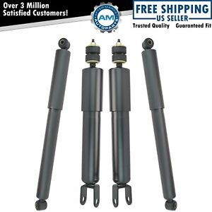 Shock Absorber Front Rear Driver Passenger Kit Set Of 4 For Silverado Sierra 4wd