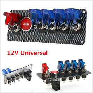 Universal Racing Car 12v Ignition Switch Panel Engine Start Push Button Toggle