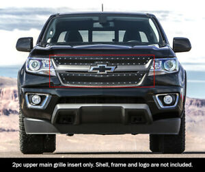 Fits 2015 2019 Chevy Colorado Stainless Steel Black Rivet Mesh Grille