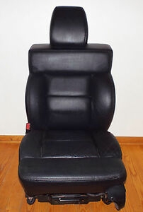 2007 Ford F 150 Crew Cab Driver Passenger Seats Black Leather Heated Oem Sharp