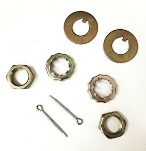 Mustang Ii Spindle Nut Kit 13 16 20 Nuts Washers Pins Stock Or Drop Spindles