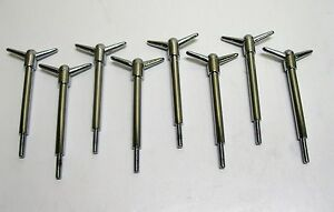 Chevy Ford Mopar 2 piece 3 1 2 Tall Valve Cover Wing Nut Bolt Chrome Set Of 8