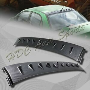 For Mitsubishi Lancer Evo 8 9 Carbon Look Style Shark Fin Rear Roof Spoiler Wing