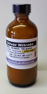Silver Nitrate High Purity 100 Grams 99 99 Pure Freshly Made