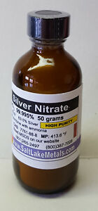 Silver Nitrate 50 Grams High Purity 99 99 Pure Freshly Made