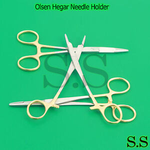 New 3 Olsen Hegar Needle Holder 6 Tungsten Carbide Surgical Veterinary