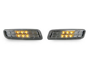 Depo Amber Led Chrome Clear Bumper Side Markers For 1998 2004 Lexus Gs300 Gs400