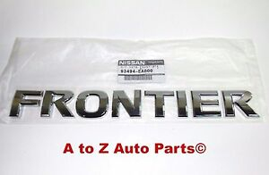 New 2005 2017 Nissan Frontier Chrome Tailgate Nameplate Oem Nissan