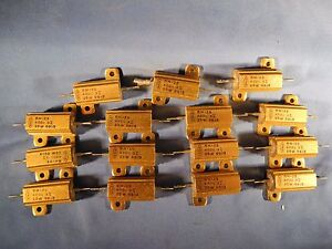 15 X Dale Rh 25 Wirewound Resistor 400 Ohm 25w 3 Precision big Lot Nos