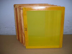 Screen Printing Frames box Of 6 18 X 20 Wood With 230 Yellow Mesh