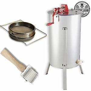 Beekeeping Stainless Steel 2 Frame Honey Extractor Uncapping Roller