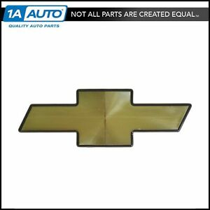 Oem 15530936 Grille Mounted Bow Tie Emblem Gold W Black Border For Chevy Truck