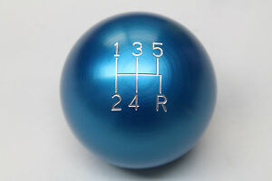 Camaro firebird Billet Aluminum Blue 5 Speed Manual Shift Knob New 2 25