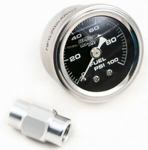 Lsx Direct Mount Fuel Rail Pressure Gauge 0 100 Psi Ls1 Ls2 Ls3 Ls6 Ls7 Cbw 030