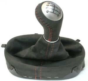 2005 2013 Corvette C6 Centennial Suede Shift Knob Boot W Red Stitching New Gm
