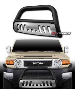 For 2007 2014 Fj Cruiser Matte Blk Bull Bar Brush Bumper Grill Grille Guard skid