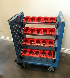 Tool Trolley Cart With 20 Lista Iso Sk50 Tool Holders Cabinet For Cnc Mill