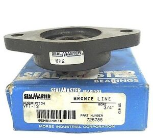 Nib Sealmaster Vft 12 Ball Bearing Flange Unit Vft12 Bore 3 4