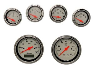 6 Gauge Hot Rod Street Rod Universal Dash Set Programmable Speedometer Shark