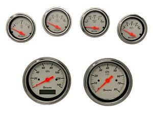 Shark Gauges 6 Gauge Programmable Set Street Rod Hot Rod Universal