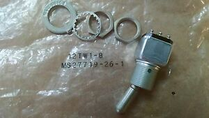 1 Ea Nos Honeywell Aircraft Toggle Switch various Applications P n 12tw1 8