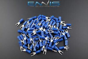 14 16 Gauge Vinyl Spade 6 Connector 500 Pk Blue Crimp Terminal Awg Car Suv