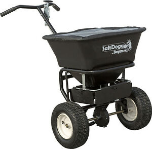 Saltdogg buyers Products Wb101g Walk behind Spreader 100 Lb Capacity