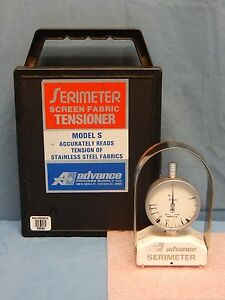 Advance Process Supply Model S Serimeter Stainless Steel Fabric Tensioner Tested