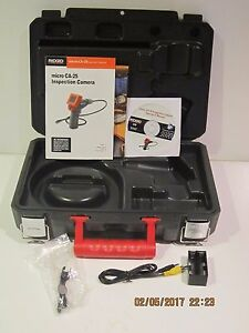Ridgid 40043 Micro Ca 25 Inspection Camera Kit empty Case accessories Only f shp