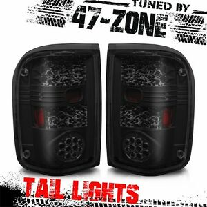 For 1993 1999 Ford Ranger Led Black Housing Smoke Lens Tail Lights Lamps