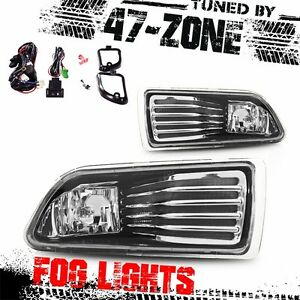 For 2005 2010 Scion Tc Chrome Housing Clear Lens Abs Fog Lights Lamps