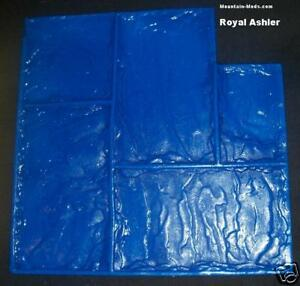 Royal Ashler Slate Decorative Concrete Cement Plaster Stamp Rigid Mat W handles