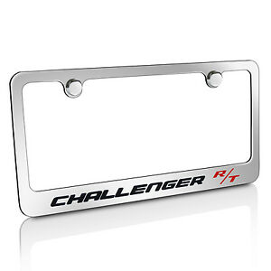 Dodge Challenger R T Chrome Brass Metal License Plate Frame Official Licensed