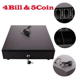 4bill 5coin Cash Drawer Box Works Compatible Epson star Pos Printers Rj 11