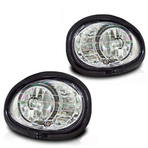 For 1998 2003 Dodge Intrepid Clear Lens Chrome Housing Abs Fog Lights Lamps
