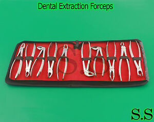 Dental Instruments Set Of Extraction Forceps English Patern Pkt Of 10 Pc Dn 435