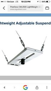Peerless Cmj500r1 Suspended Ceiling Plate Projector White