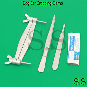 Terrier Dog Ear Cropping Clamp Guide Tools Kit Veterinary Instruments Vt 101