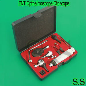 Ent Opthalmoscope Otoscope Nasal Larynx Diagnostic Set