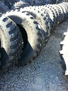 Two New 380 70r24 Radial John Deere Ford Turf Field Lug Tractor Tires