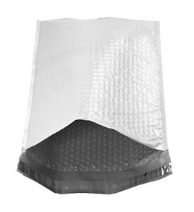 10 5 X 15 White Poly Bubble Mailers Padded Self Seal 5 50 Qty Free Shipping