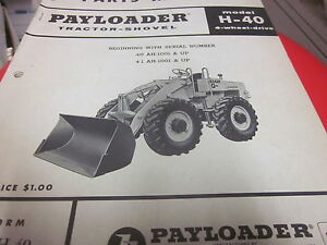 International Hough H 40 Pay Loader Tractor Shovel Parts Manual
