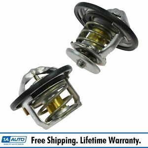 Ac Delco 185 180 Degree Thermostat Front Rear Kit Pair For Gm Pickup Duramax