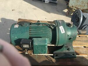 Sm cyclo Gear Box Ratio 87 Output Rpm 20 With 2 Hp Motor Used